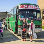 Посадка в автобусы в Кизилюрте